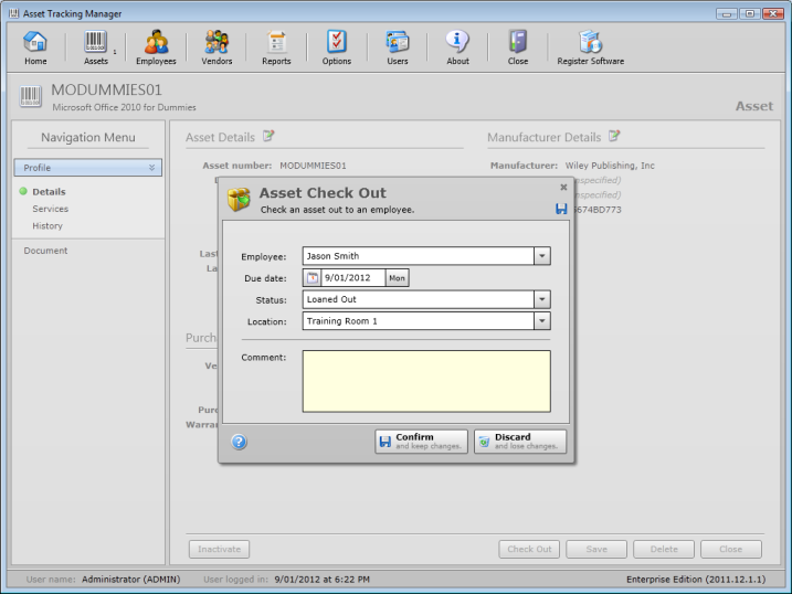Click to view Asset Tracking Manager Enterprise 2011.07.27.01 screenshot