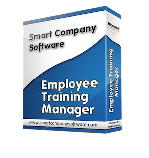 Image of an employee training records database software box.